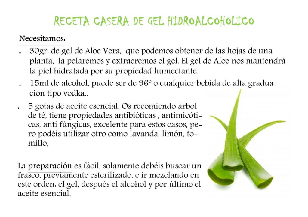 receta gel desinfectante